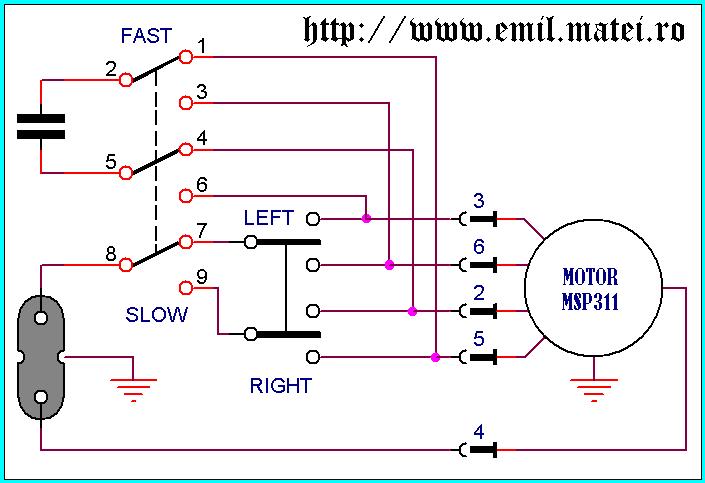 Schema electrica motor monofazat cu