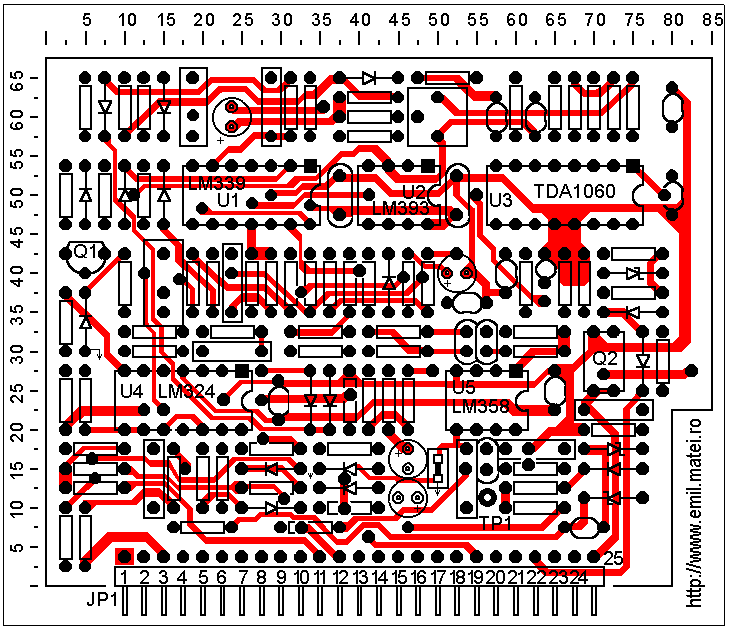 LINCOLN INVERTEC V140-S - Control PCB layer 1