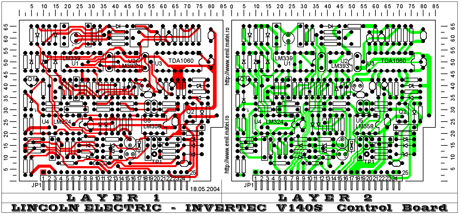 LINCOLN INVERTEC V140-S - Control PCB routing layers