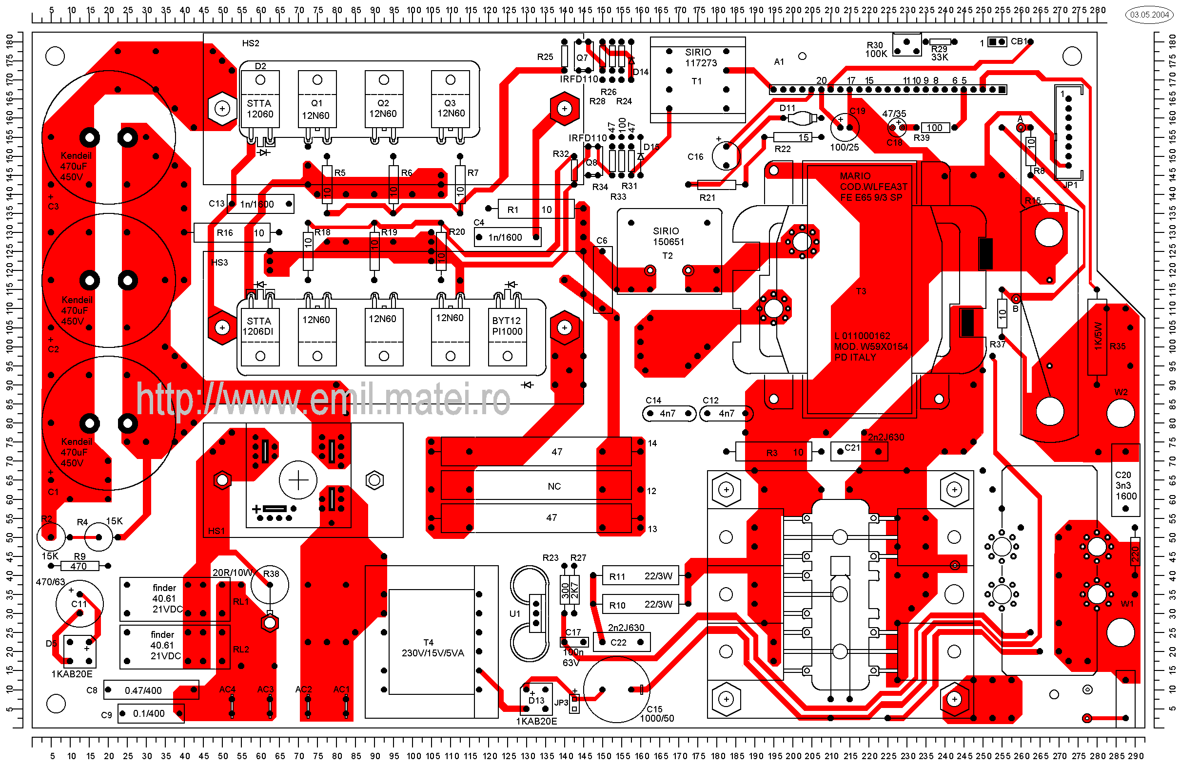 LINCOLN INVERTEC V140-S - PCB Layer 1
