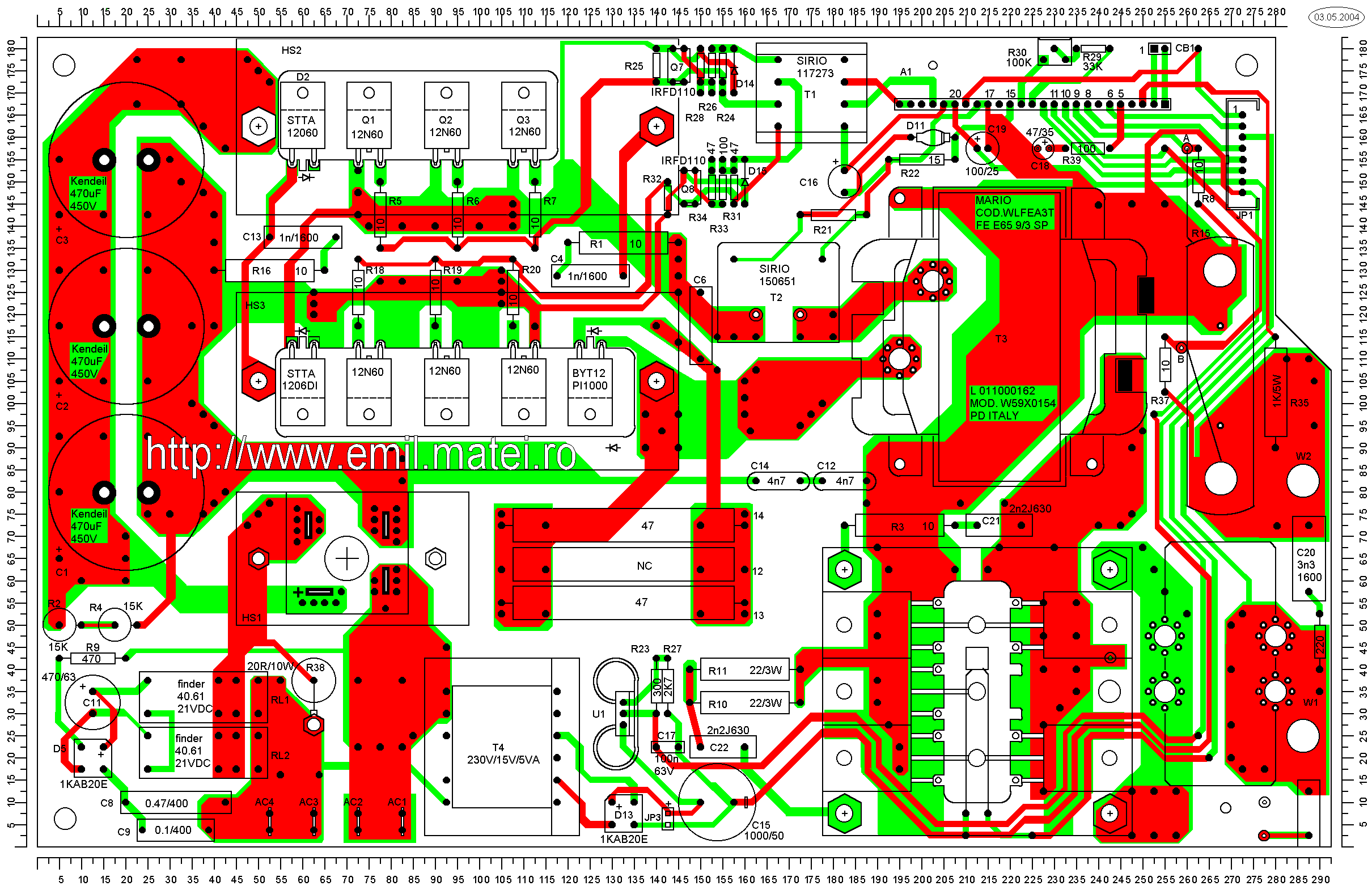 LINCOLN INVERTEC V140-S - PCB Routing layers