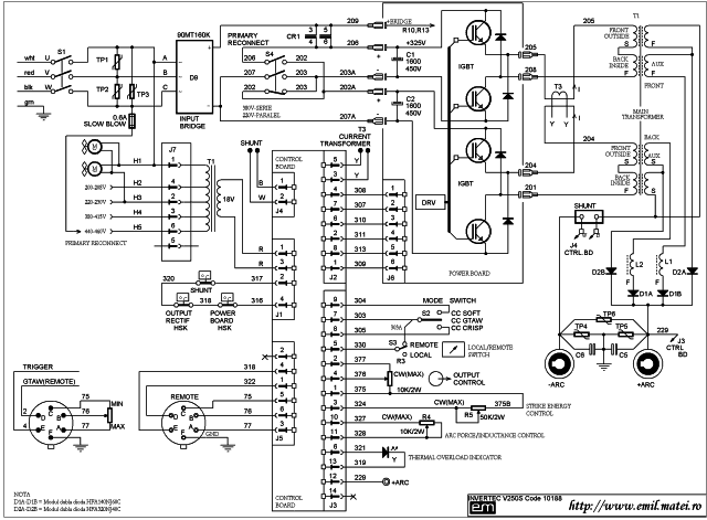 Wiring Diagram Lincoln Invertec V250S