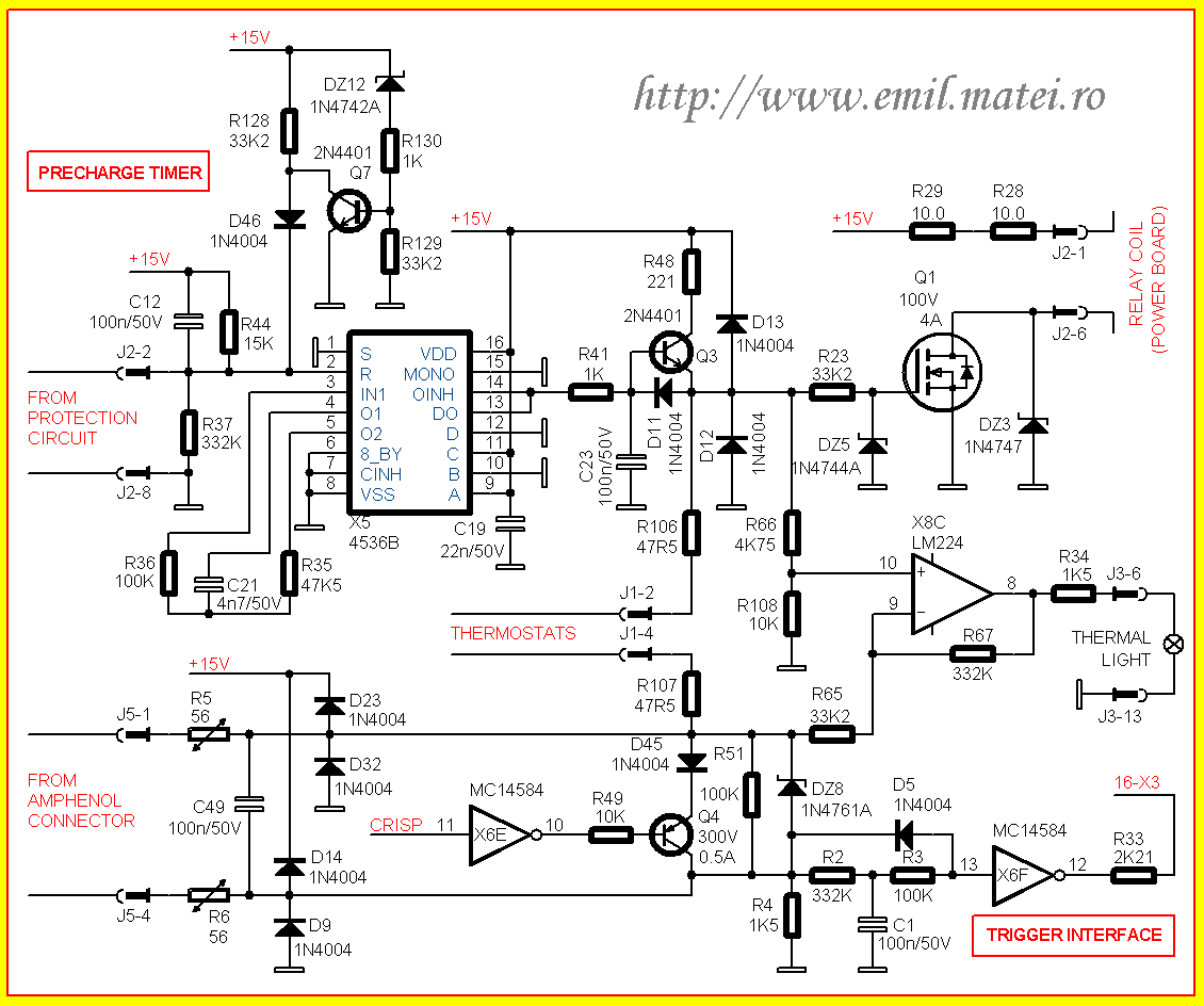 Schema Control invertor de sudare Lincoln Invertec V250-S (partial)