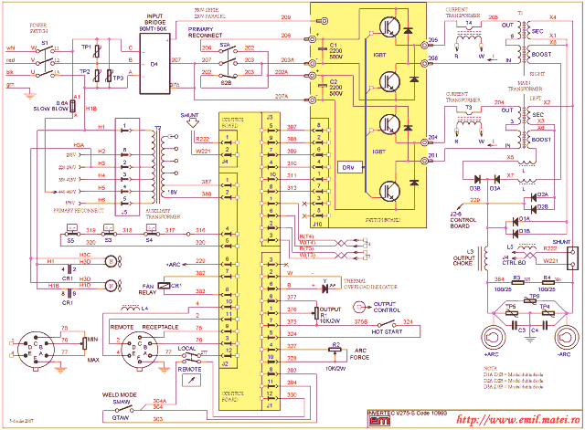 Wiring Diagram Lincoln Invertec V275-S