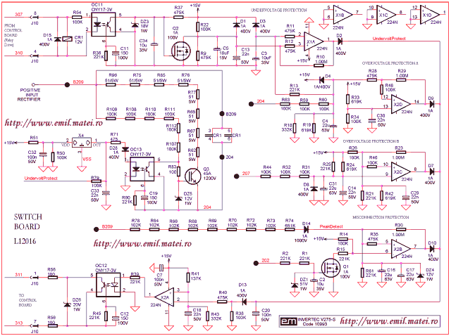 Pfrotections Switch Board Schematic Diagram Lincoln Invertec V275-S