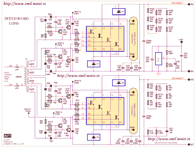 IGBT Switch Board Schematic Diagram Lincoln Invertec V275-S