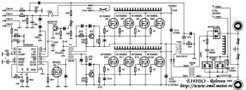 Schema invertor de sudare - etaj de putere cu tranzistoare MOS