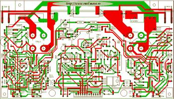 PCB Invertor de sudare cu tranzistoare bipolare - etaje de putere