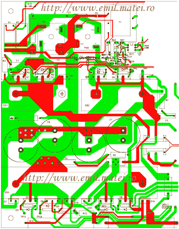 PCB invertor de sudare(partial)