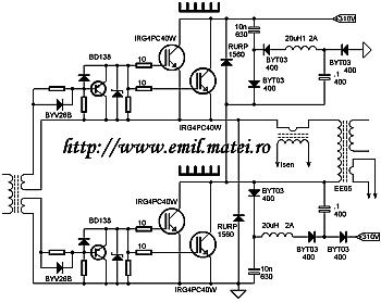 Schema invertor de sudare - etaje de putere cu IGBT