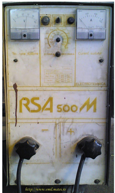 Redresor de sudare RSA 500 M